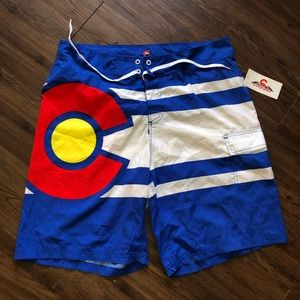 Colorado State Flag Swimtrunks Water pants